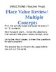 Review concepts of Place Value 4th grade