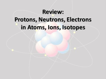 Review finding Protons, Neutrons, Electrons in Atoms, Ions