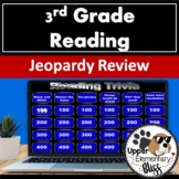 3rd & 4th grade reading state test review- Jeopardy style (completely editable)