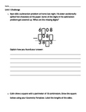 Review for Everyday Math Unit 1 Test Challenge Problems