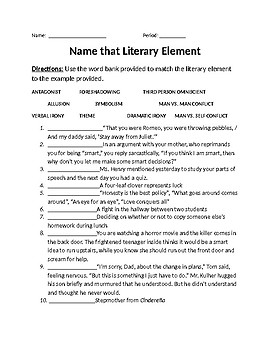 Review for Literary Elements