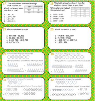 60 Review Cards for Math SOL with Number and Number Sense Task Cards 2016