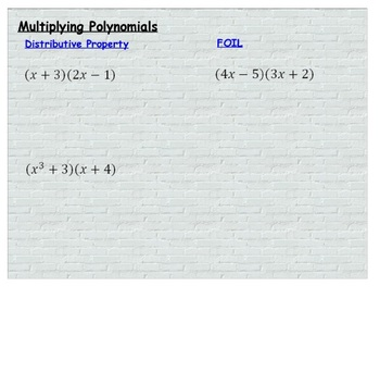 Review for Polynomials Promethean problems