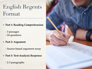 Review for the Common Core New York State English Regents Parts 1, 2, 3