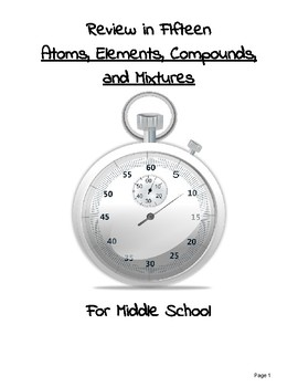 Review in 15 Minutes: Atoms, Elements, Compounds, and Mixtures