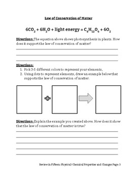 Review in Fifteen: Law of Conservation of Matter/Balancing Chemical Equations