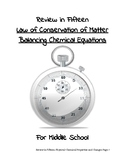 Review in Fifteen: Law of Conservation of Matter/Balancing