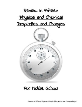 Review in Fifteen: Physical and Chemical Properties/Changes