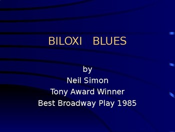 Review lesson after a reading of Neil Simon's comedy Biloxi Blues