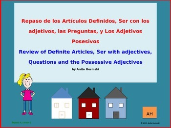 2nd year spanish asi se dice Repaso A, teacher Lesson 1 on powerpoint