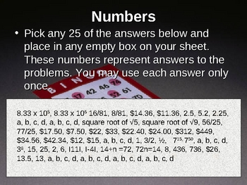 Review of 7th grade number sense standards