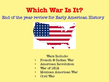 Social Studies Review of American Wars (Early American History)