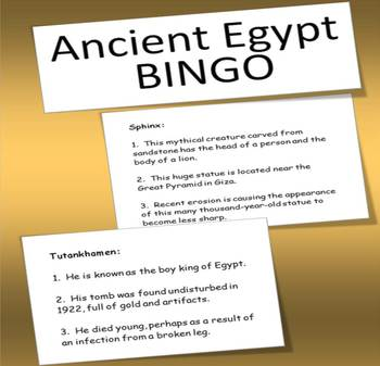 Ancient Egypt BINGO