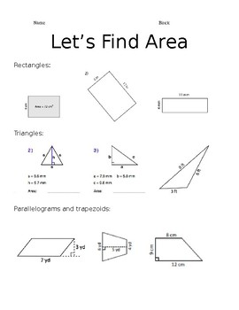 Review of Area and Nets - Editable