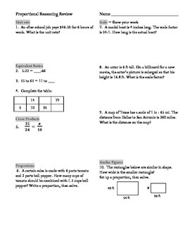 Free Common Core Worksheets 6 Rp A 1