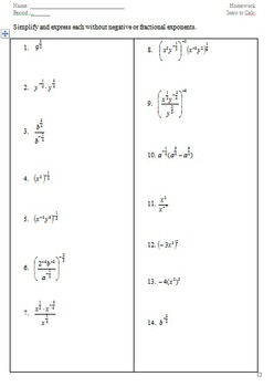 002 Review of Exponent Laws