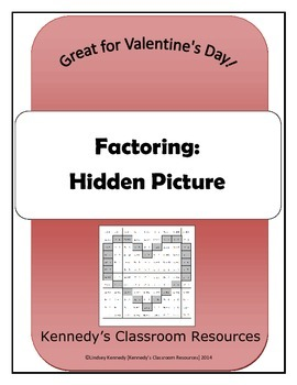 Review of Factoring - Hidden Picture (Great for Valentine's Day!)