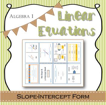 Algebra 1 linear equations slope intercept form interactive notes algebra 1 linear equations slope intercept form interactive notes template pronofoot35fo Images