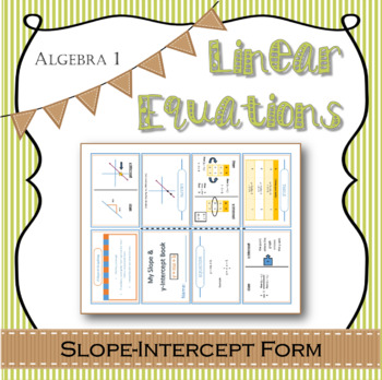 Linear Equations guided notes slope-intercept form with exit ticket questions