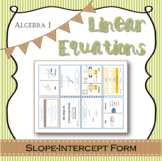 Linear Equations guided notes slope-intercept form with ex