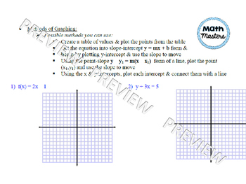 Review of Linear Functions