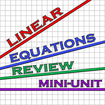 Review of Linear Functions Mini-Unit Resources (7 files)