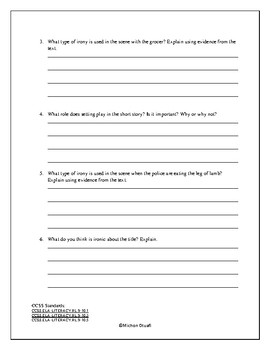 """Short Story Unit-""""Lamb to the Slaughter"""" Questions"""
