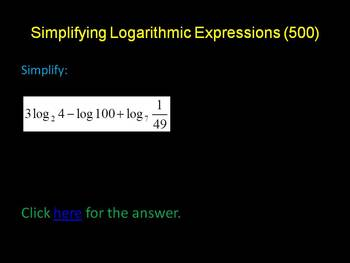 Review of Logarithms Game