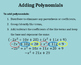 Review of Polynomials
