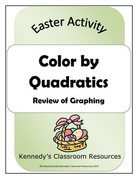 Review of Quadratics - Easter Coloring Activity