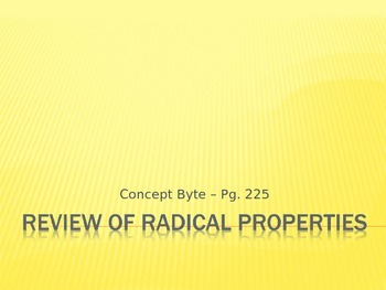 Review of Radical Properties