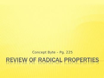 Review of Radical Properties