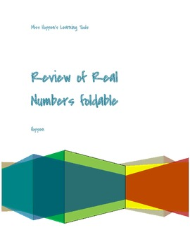 Review of Real Numbers foldable