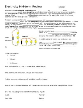 Review of Series Parallel Circuits Ohm's Law Electricity