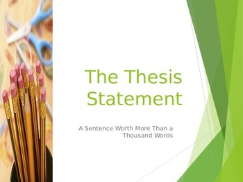 Review of Thesis Statements