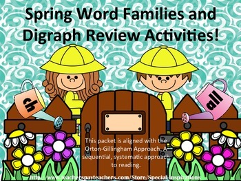 Review of Word Families (ng, nk, all) Digraphs (sh, wh, th