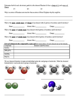Review of basic Chemistry Concepts