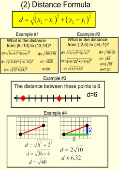 Review of slope, distance formula, degree & midpoint on Power Point, Socrative