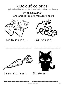 26 Spanish Basics Worksheets! (Greetings, Calendar & Weather, Colors & Shapes)