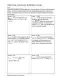 Circuit Training - Review on Use of a Calculator in Calculus
