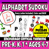 Review the Alphabet with Picture Sudoku! Best for ages 4-7.
