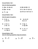 Review walkabout- Algebra 1 concepts