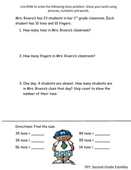 Review worksheet for Grade 2 Module 3