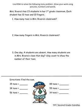 Review worksheet for Grade 2 Module 3