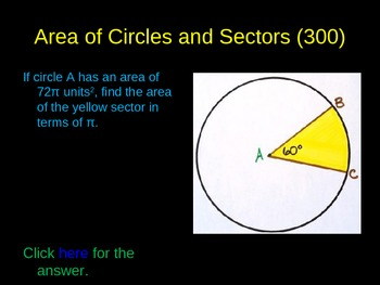 Reviewing Circles PowerPoint Game Activity