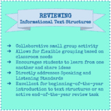 Reviewing Informational Text Structures: A Joint Productiv