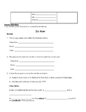 Reviewing Parts of Speech Lesson Worksheet