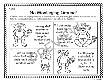 {FREE!} Reviewing Proper Library Behavior Printable Resources