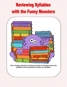 Reviewing Syllables With The Funny Monsters