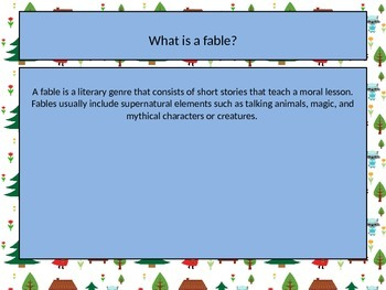 Reviewing Theme Using Fables